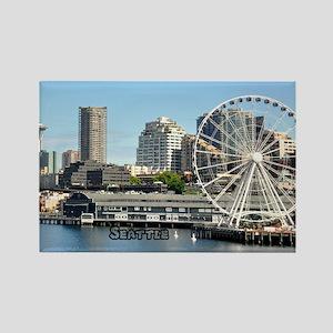 Seattle_5.5x7.5_FlatCard_SeattleW Rectangle Magnet