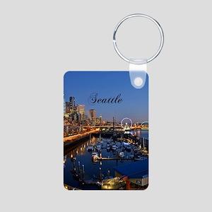 Seattle_5X7_Card_SeattleWa Aluminum Photo Keychain