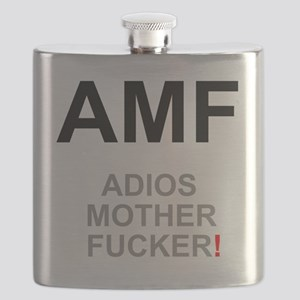 TEXTING SPEAK - - AMF ADIOS MOTHER FUCKER! Z Flask