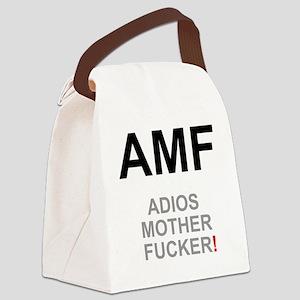 TEXTING SPEAK - - AMF ADIOS MOTHE Canvas Lunch Bag