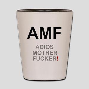 TEXTING SPEAK - - AMF ADIOS MOTHER FUCK Shot Glass