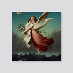 "Guardian Angel by Wilhelm V Square Sticker 3"" x 3"""