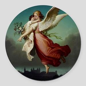 Guardian Angel by Wilhelm Von Kau Round Car Magnet