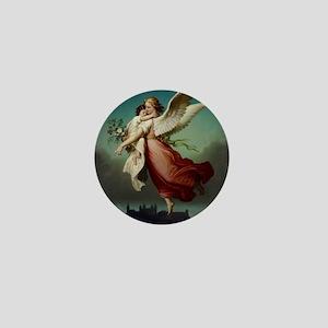 Guardian Angel by Wilhelm Von Kaulbach Mini Button