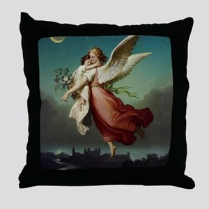 Guardian Angel by Wilhelm Von Kaulbac Throw Pillow