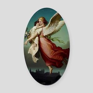 Guardian Angel by Wilhelm Von Kaul Oval Car Magnet