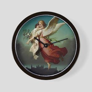 Guardian Angel by Wilhelm Von Kaulbach Wall Clock