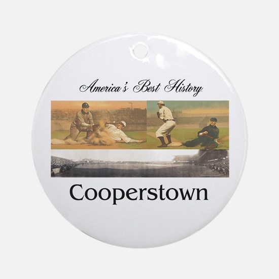 Cooperstown Americasbesthistory.com Round Ornament