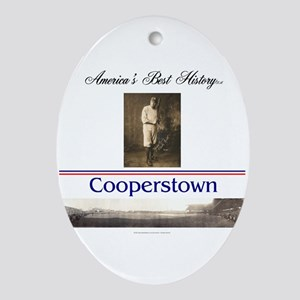 Cooperstown Americasbesthistory.com Oval Ornament