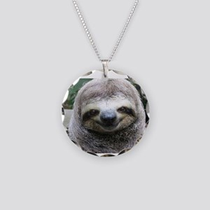 Killer Sloth Necklace Circle Charm