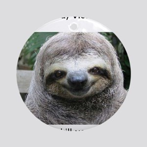 Killer Sloth Round Ornament