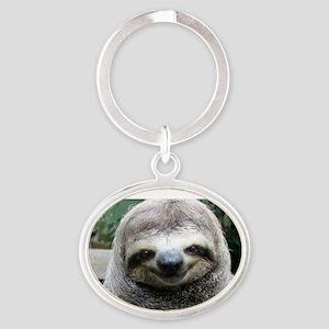 Killer Sloth Oval Keychain