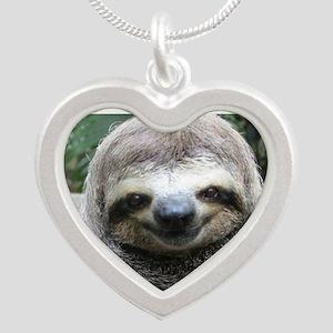 Killer Sloth Silver Heart Necklace