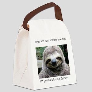 Killer Sloth Canvas Lunch Bag