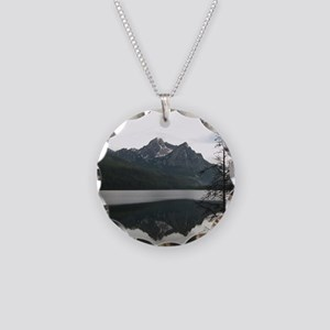 Be Still Sawtooth Mountains Necklace Circle Charm