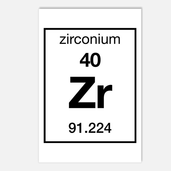 Periodic table elements postcards periodic table elements post zirconium postcards package of 8 urtaz Gallery