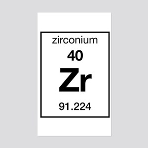 Zirconium Rectangle Sticker