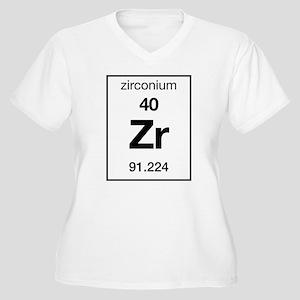 Zirconium Women's Plus Size V-Neck T-Shirt