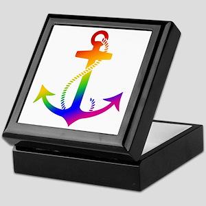 Rainbow Anchor Keepsake Box