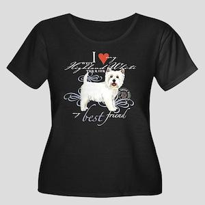 Westie Women's Plus Size Scoop Neck Dark T-Shirt