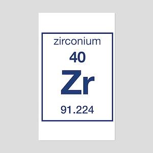 Periodic table zirconium stickers cafepress zirconium rectangle sticker urtaz Gallery