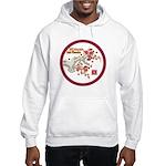 Mei Flowers Hooded Sweatshirt (Large Logo)