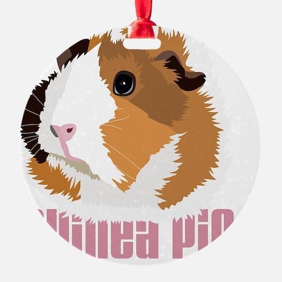 Retro Guinea Pig 'Elsie' (white) Ornament