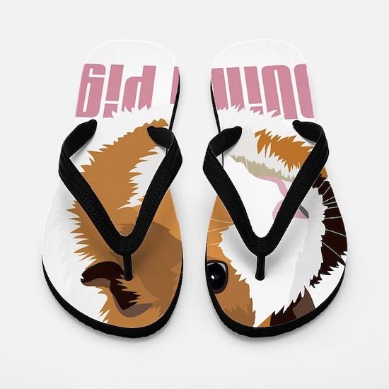 Retro Guinea Pig 'Elsie' (white) Flip Flops