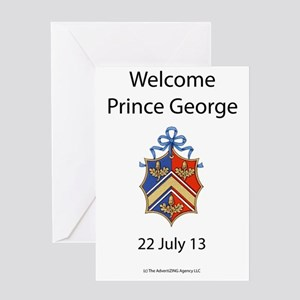 British heir stationery cafepress welcome prince george greeting card m4hsunfo