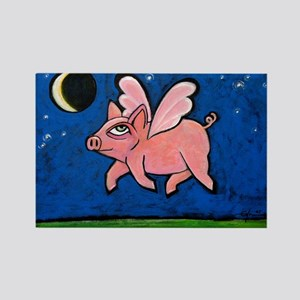 WHEN PIGS FLY Rectangle Magnet