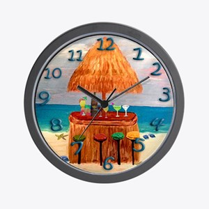 Tiki Time Wall Clock