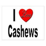 I Love Cashews Small Poster