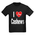 I Love Cashews (Front) Kids Dark T-Shirt