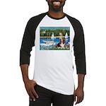 Sailboats & Basset Baseball Jersey