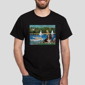 Sailboats & Basset Dark T-Shirt