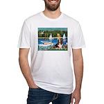 Sailboats & Basset Fitted T-Shirt