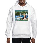 Sailboats & Basset Hooded Sweatshirt