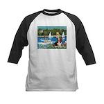 Sailboats & Basset Kids Baseball Jersey