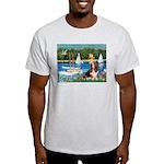 Sailboats & Basset Light T-Shirt
