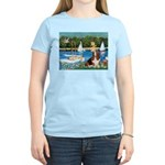 Sailboats & Basset Women's Light T-Shirt