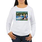 Sailboats & Basset Women's Long Sleeve T-Shirt