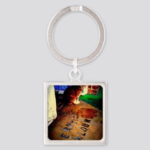 Molly's Cat Square Keychain