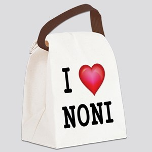 I LOVE NONI Canvas Lunch Bag