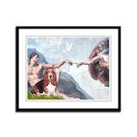 Creation & Basset Framed Panel Print