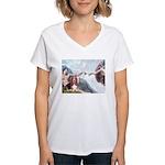 Creation & Basset Women's V-Neck T-Shirt