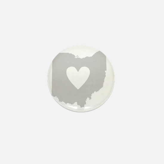 Heart Ohio state silhouette Mini Button