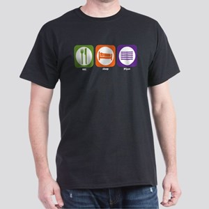 Eat Sleep Pipes Dark T-Shirt