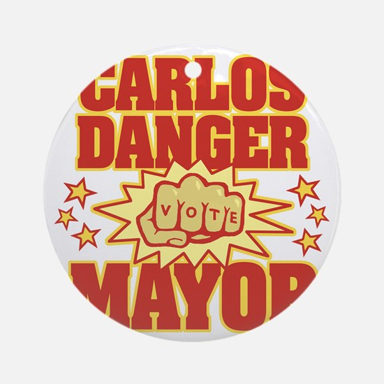 Carlos Danger Round Ornament