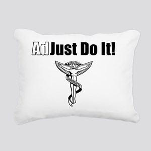 Adjust Do It- black Rectangular Canvas Pillow