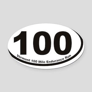 VT 100 Euro Oval Sticker Oval Car Magnet
